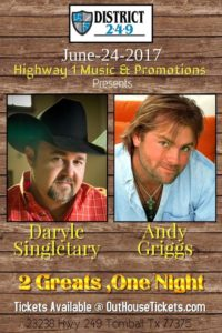 Daryle Singletary & Andy Griggs @ District 2.4.9