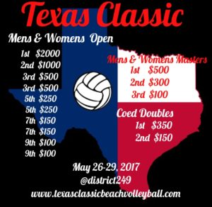 Texas Classic Beach Volleyball Tournament @ District 2.4.9