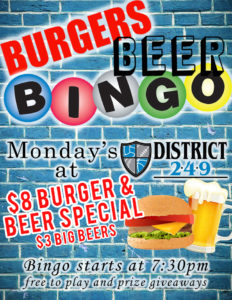 BURGERS, BEER & BINGO