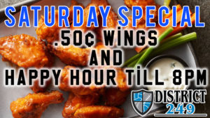 50¢ Wings + College Football!