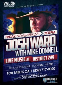 Josh Ward Live with Mike Donnell