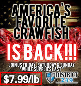Crawfish starts at